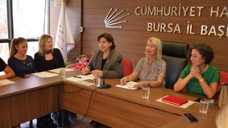 CHP Bursa Kadın Kolları'na teşekkür