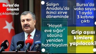 Bakan Koca'dan Bursa'da önemli açıklamalar
