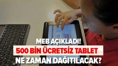 MEB 500 bin tablet dağıtılacak!