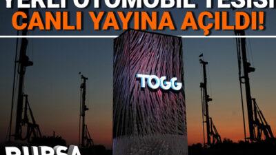 Yerli oto TOGG'un Bursa'daki tesisinden 7/24 canlı yayın