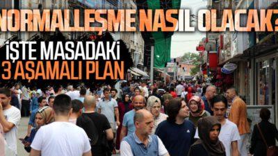 """17 Mayıs sonrası 3 aşamalı """"normalleşme"""" planı"""